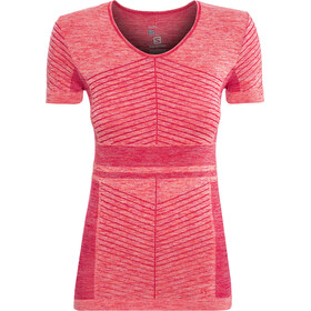 Salomon Elevate Move'On SS Tee Dame cerise/dubarry